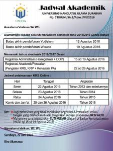 jadwal akademik 2016/2017
